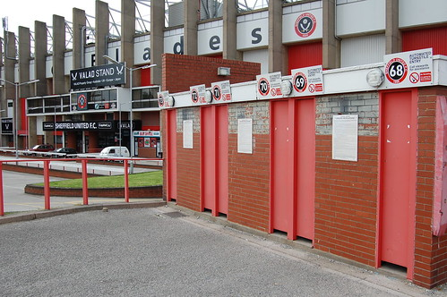 Turnstiles and South Stand, Bramall Lane