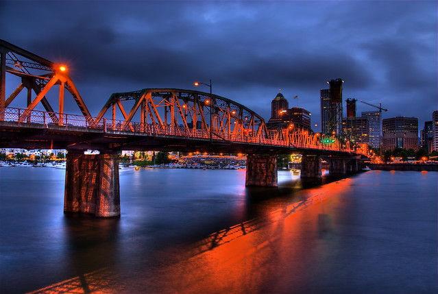 Hawthorne Bridge at Night