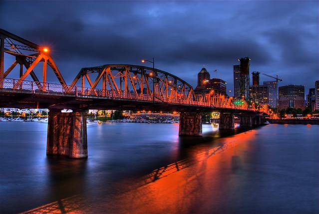 Hawthorne Bridge at Night