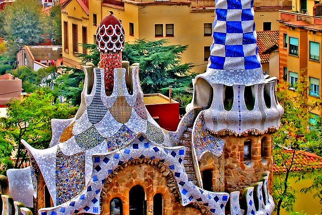 Gaudi gingerbread house @ Park Guell in Barcelona   Flickr - Photo ...