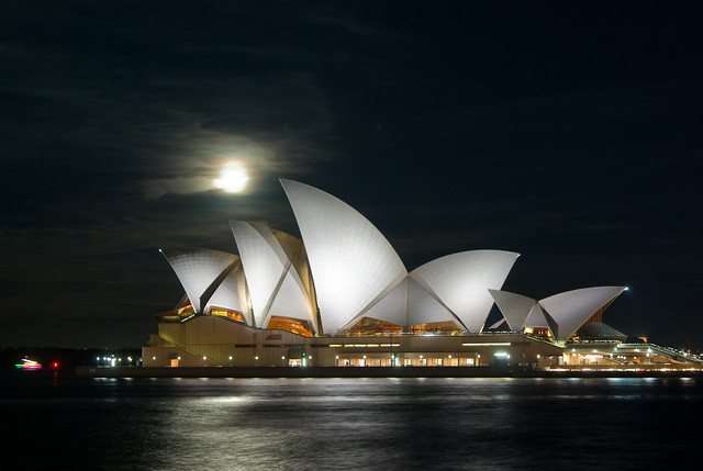 Moonrise over a Famous Opera House