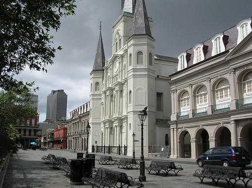 Empty Jackson Square