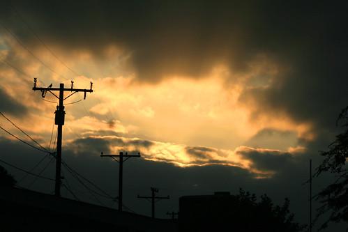 morning sky sunrise cloudy pole electricpole breakintheclouds