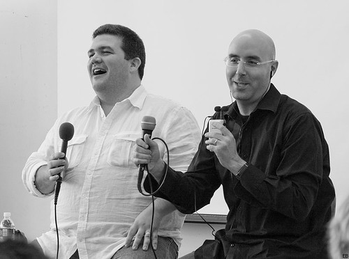Speaking with Mitch Joel at PodCamp Montreal