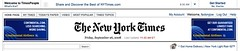 The New York Times Header