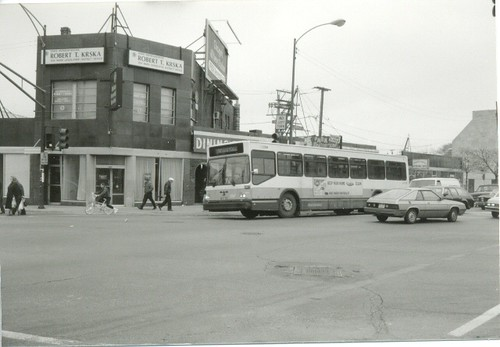 Northbound CTA Route # 52 Kedzie / California Avenue bus. Chicago Illinois. November 1989. by Eddie from Chicago