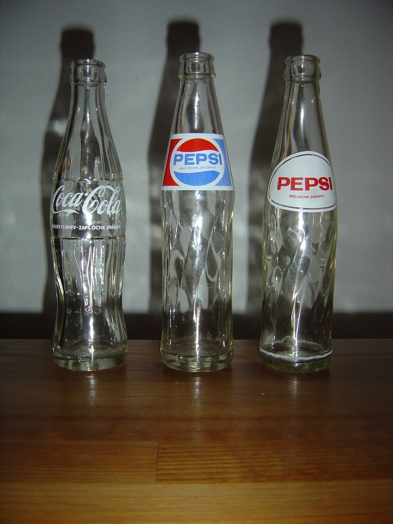 Old Glass Bottles Part - 25: Old Pepsi And Coca-cola Glass Bottles #2