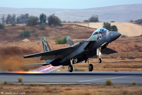 Burning asphalt, IAF F-15I Eagle Ra'am Israel Air Force