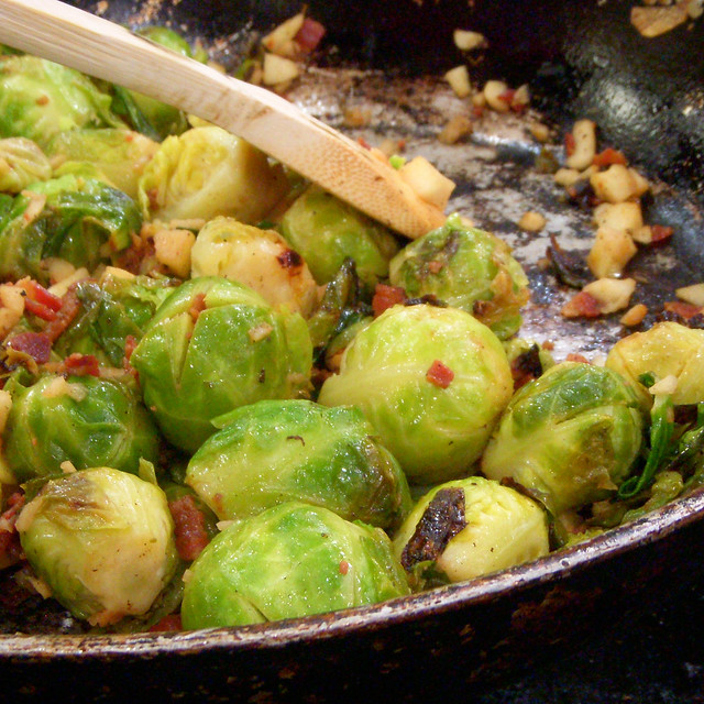 Brussel Sprouts with Sauteed Bacon and Apples | Flickr - Photo Sharing ...