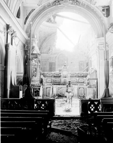 無料写真素材, 戦争, 兵士, 宗教施設, 教会・聖堂, 第二次世界大戦, モノクロ, アメリカ軍, 風景  イタリア
