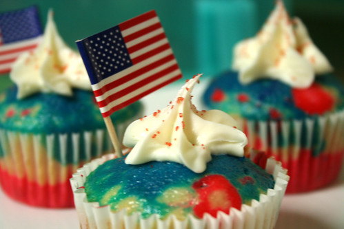 cupcakes de 4 de julho EUA