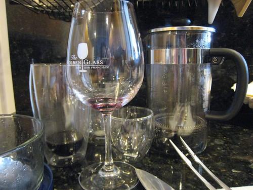 dirty dishes, wine glass, bodum, french press IMG_4105
