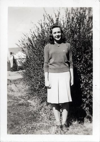 Gloria Album - Gladys in sweater and skirt