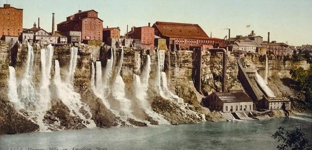 Niagara Falls Mill District On American Shore Ca 1900