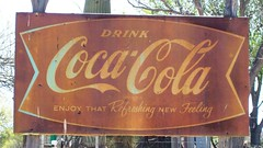 Drink Coca-Cola, Enjoy that Refreshing New Feeling.  Rusted sign in Langtry, TX - langtry029