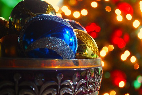 Colorful Christmas Balls, Glittery Christmas Decorations, Asteegabo Photography