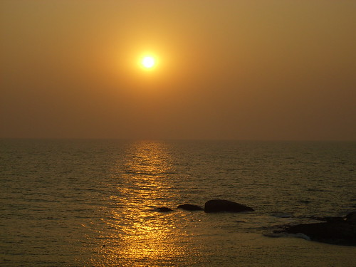 Sunset at Malpe Beach, Udupi