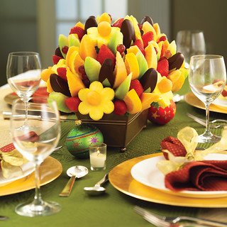 Edible Arrangement Holiday Table