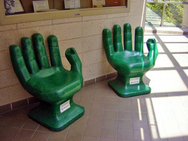 Green Hand Chairs ~ Recycled plastic PET bottles