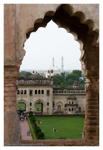 india monument skyline landscape arch charbagh lucknow uttarpradesh badaimambara