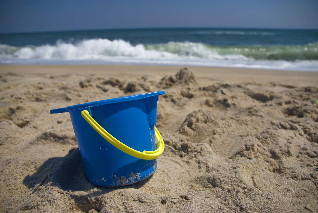 pail in sand