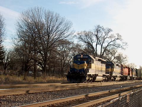 Westbound Iowa, Chicago & Eastern freight train. River Grove Illinois. January 2007. by Eddie from Chicago