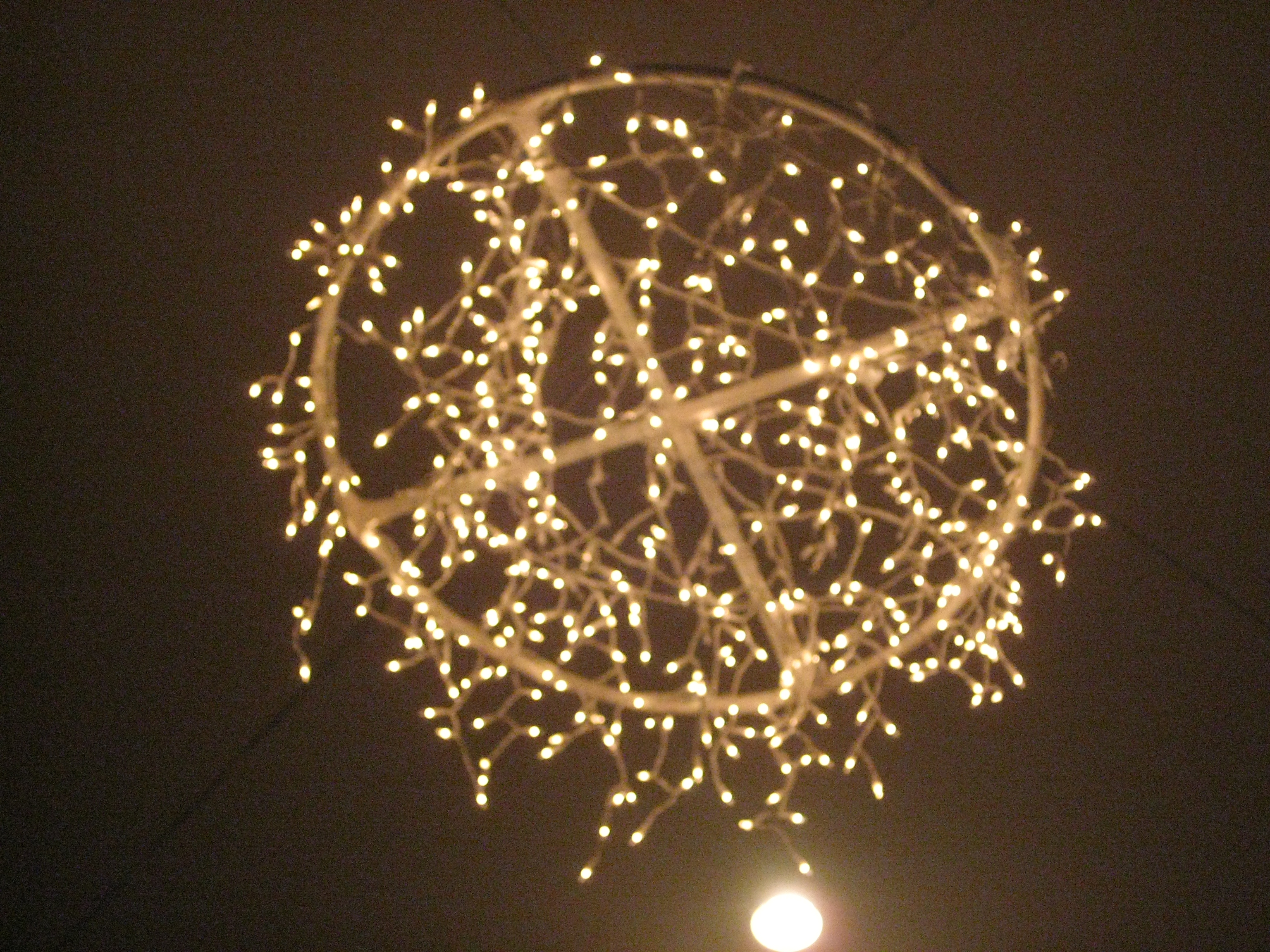 Cool homemade chandelier by bri via flickr homemade for Cool diy chandeliers