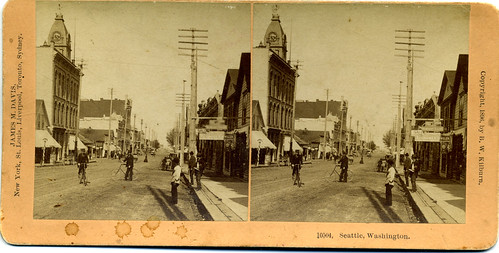 seattle washington view antique stereo stereoview