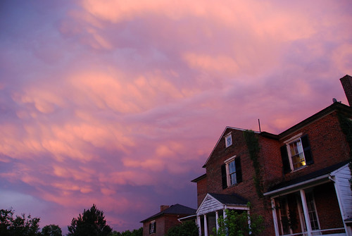 sunset clouds farmhouse hanover dewberry
