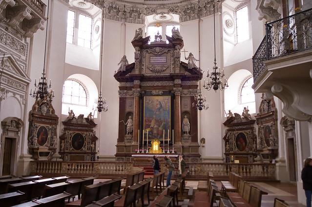 Interior of cathedral in Salzburg * Интерьер собора в Зальцбурге