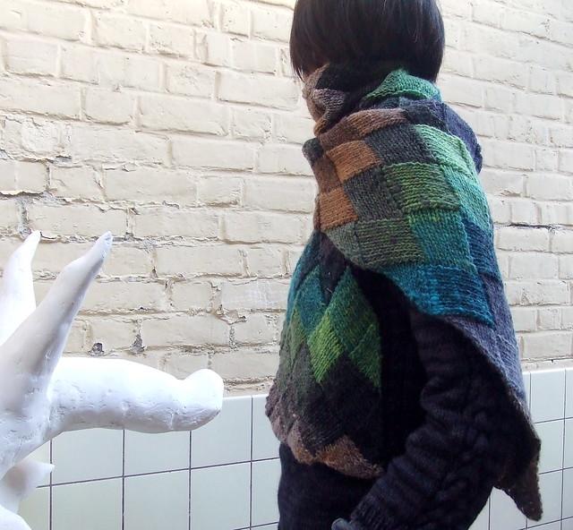 entrelac scarf, Fujifilm FinePix Z2