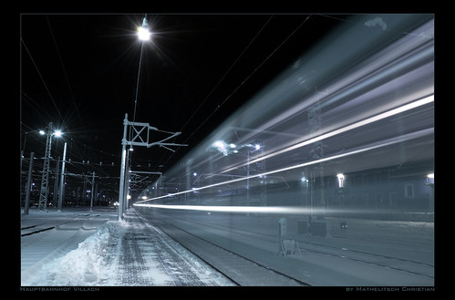 Highspeed travelling on Villach Mainstation