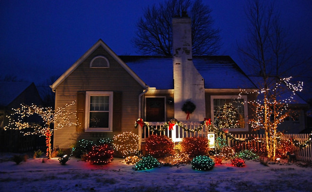 Holiday lights -- East Side of Lorain