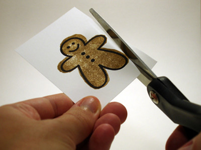 CraftyGoat's Notes: Cut Out Stamped Gingerbread Man