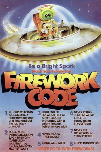 Firework Code Poster