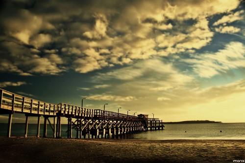 ocean sol beach sunrise canon island uruguay muelle sand playa explore marce puesta isle puntadeleste jettie 400d anawesomeshot marcelodasilva marce™