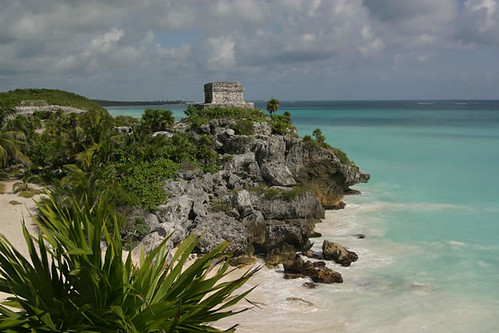 Tulum on the ocean