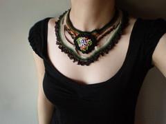 Lilium Parvum... Freeform Crochet Necklace