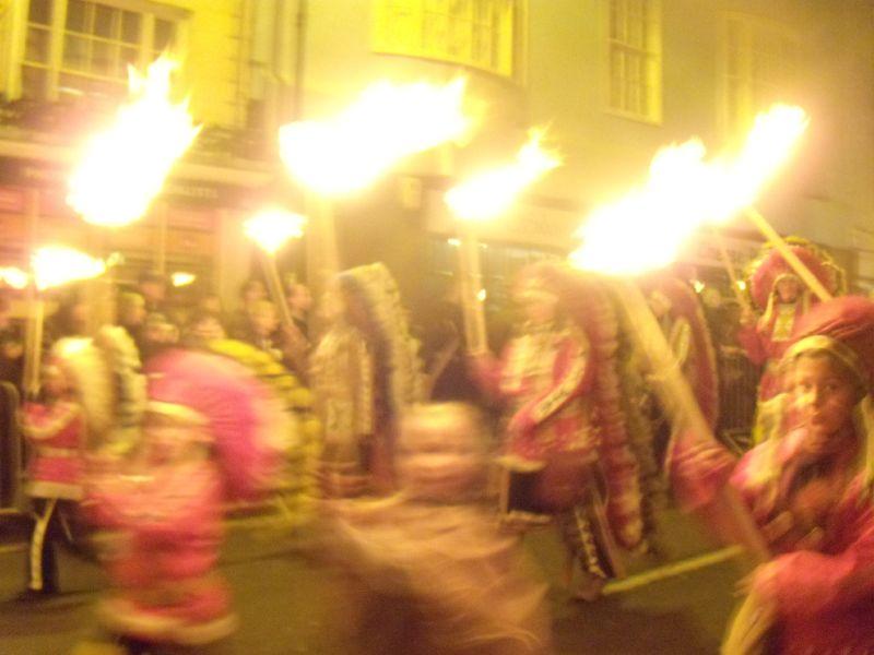 Indians Lewes circular via Rodmell Lewes bonfire night