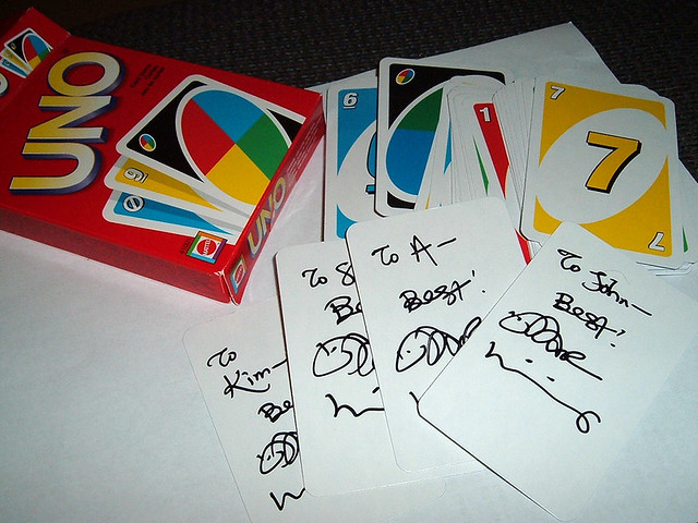 uno cards williams blank card dar signed
