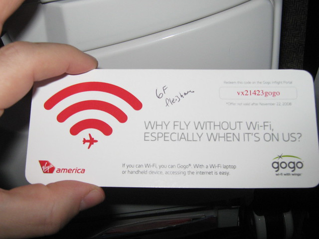 Virgin America/GoGo Inaugural Wi-Fi Flight