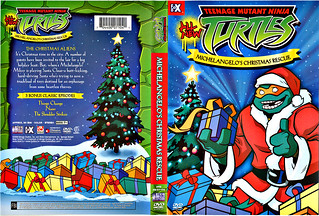 "TEENAGE MUTANT NINJA TURTLES :: ""Michelangelo's Christmas Rescue"" // DVD wrap-around cover (( 2004 ))"
