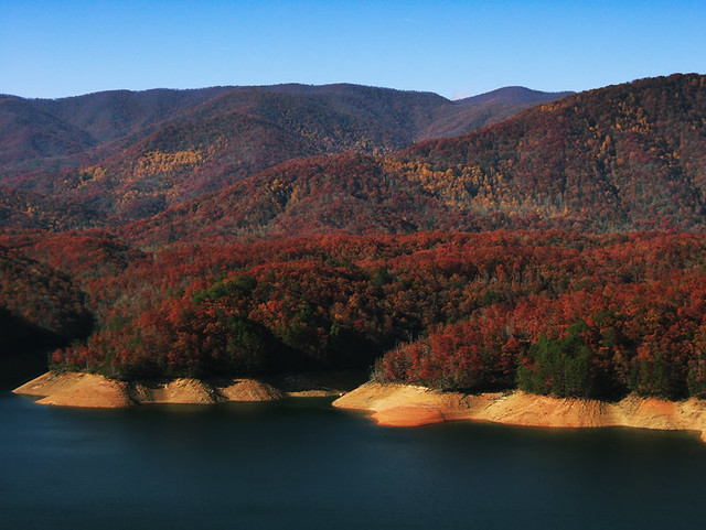 The views of Fontana Lake are breathtaking