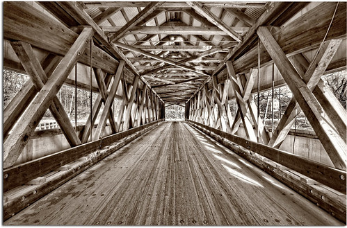 wood bridge light sepia vintage unique wideangle symmetry coveredbridge marvel brilliant trusses genuine sigma1020mm d90 ashtabulacounty nikond90 mechanicsvilleroadbridge