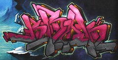 Center St. Wall -  Houston Graffiti Art- Brok