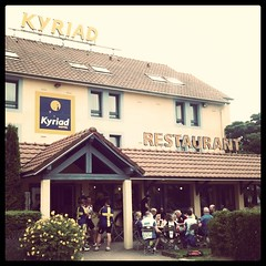 Kyriad Hotel, Beauvais. And some cyclists.