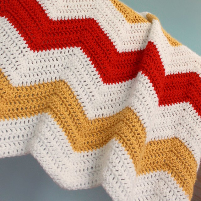 BE UNIQUE Chevron Blanket Crochet Pattern Flickr - Photo Sharing!