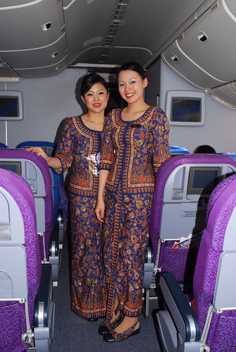 Beautiful Air Stewardess on SIA flight