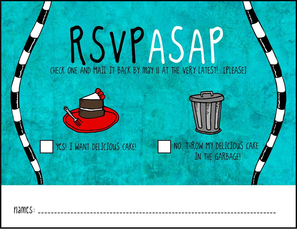 RSVP/ASAP