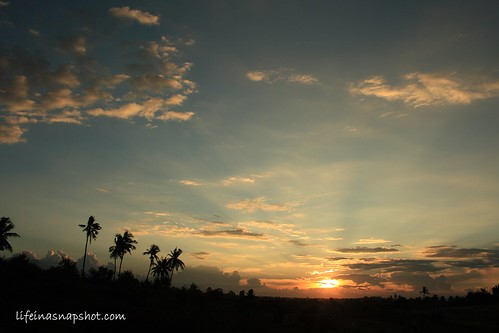 the golden sunset in SunCity, Davao City
